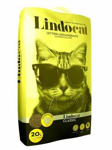 Lindo Cat Classic 8 kg, paakkuuntuva kissanhiekka (karkearakeinen)