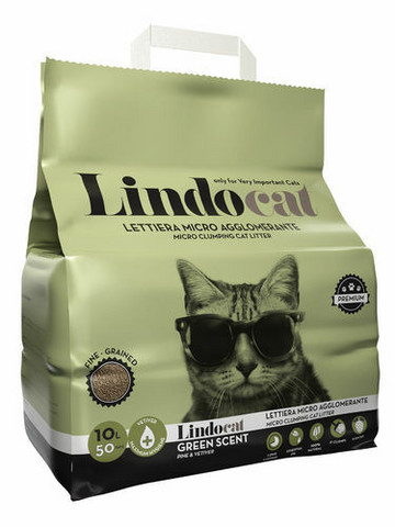 Lindo Cat Green Scent 10 kg ,(hajustettu) kissan mikrohiekka