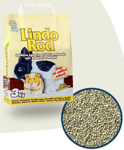 Lindo Rod jyrsijänhiekka (paakkuuntumaton) 3 kg