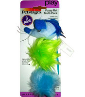 Petstages Fuzzy Rat Multi-pack