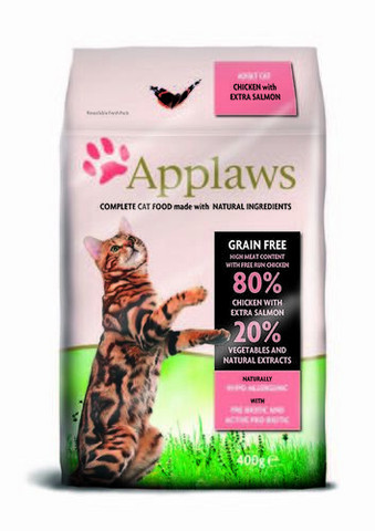 Applaws adult cat chicken with extra salmon 400g