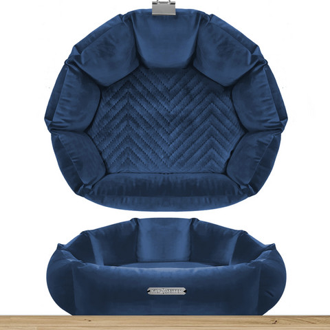 Milk & Pepper Saint Germain Bleu nuit Sofa Coquille 38cm