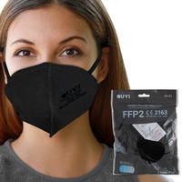 UYI FFP2 hengityssuojain musta 5 kpl