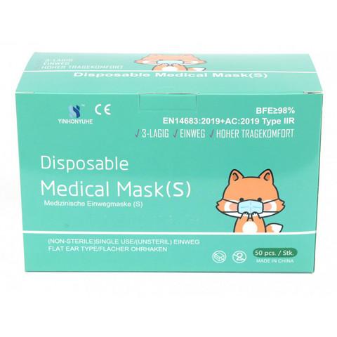 Kasvomaski Type IIR medical mask koko S 10 kpl