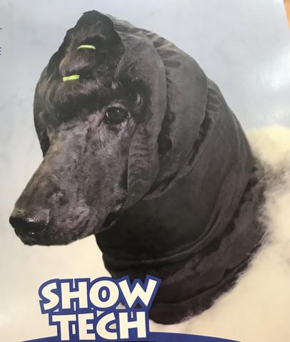 Snood black- korvahuppu S musta