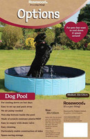 Rosewood koiran uima-allas L 160x30cm, venttiilillä, taitettava