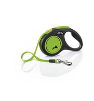 Flexi New neon special edition neon-vihreä S liinalla 5m