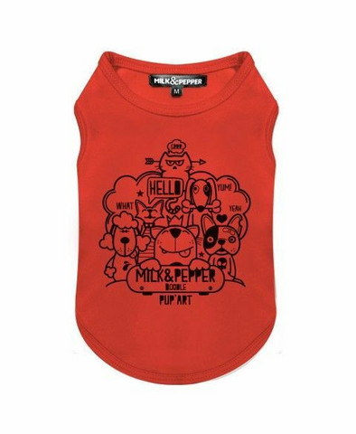 Milk&Pepper Doodle Orange Tee-Shirt M