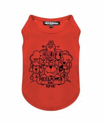 Milk&Pepper Doodle Orange Tee-Shirt L