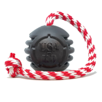 USA-K9 MAGNUM BLACK STARS AND STRIPES ULTRA-DURABLE RUBBER CHEW TOY