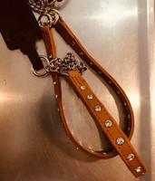 JOKKE Cheri koristepanta aidosta nahasta 28-37cm x 12 mm konjakki