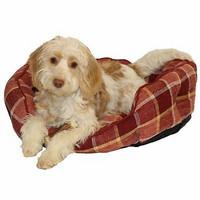Rosewood Oval Spiced Wine koiran peti 53x46cm