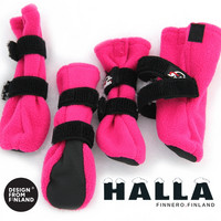 Halla fleece tossut pinkki XXS