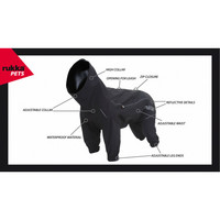 Rukka Protect overall haalari musta 25cm