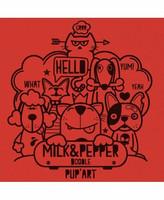 Milk&Pepper Doodle Orange Tee-Shirt S
