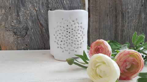 Mandala Ceramic candleholder