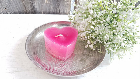Candle plate metal