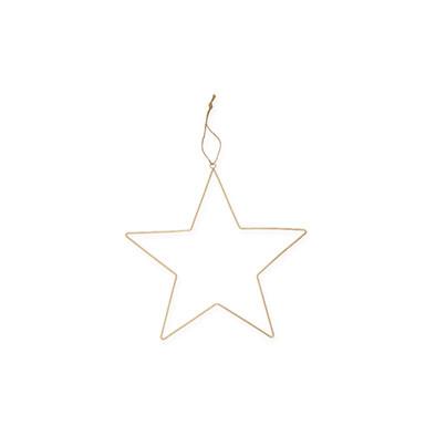 Metal star 25 cm gold