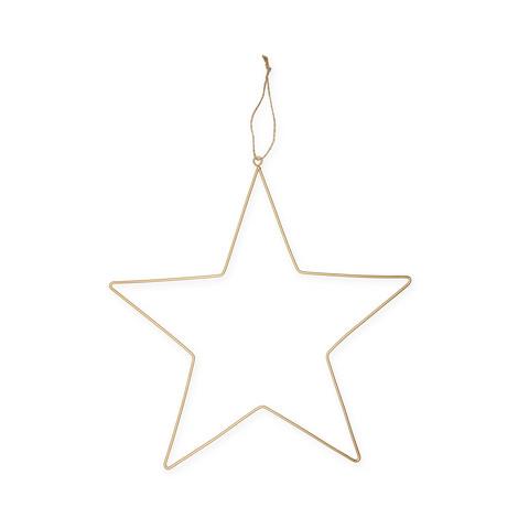 Metal star 35cm gold