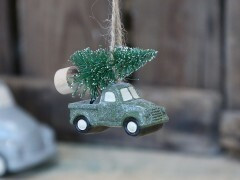 Glitter car with tree
