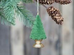Christmas tree velour hanging