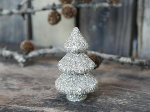 Chritsmas tree champagne glitter