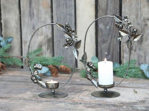 Candleholder antiqur brass tealight