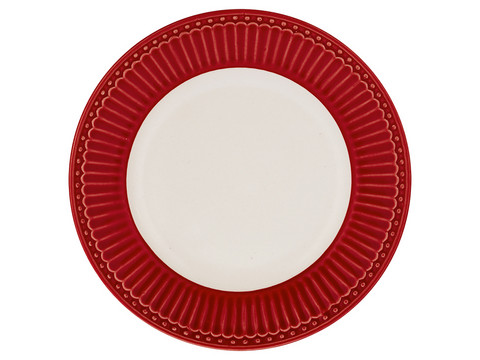 Plate Alice red small