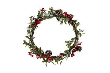 Wreath with red berries