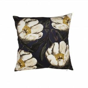 Lilly Cushioncover  darkblue/flower