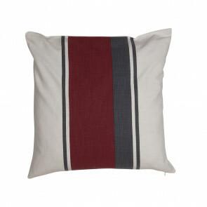 Cushioncover red/white/darkgrey