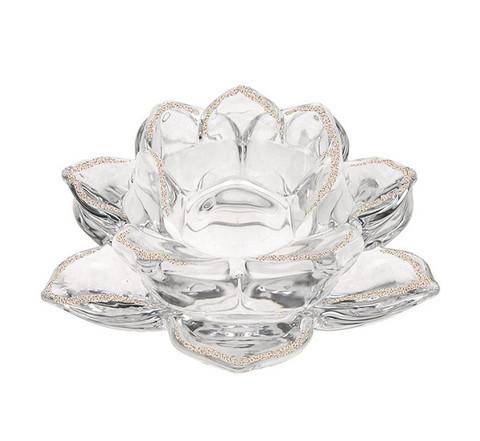 Lotus glitter canleholder