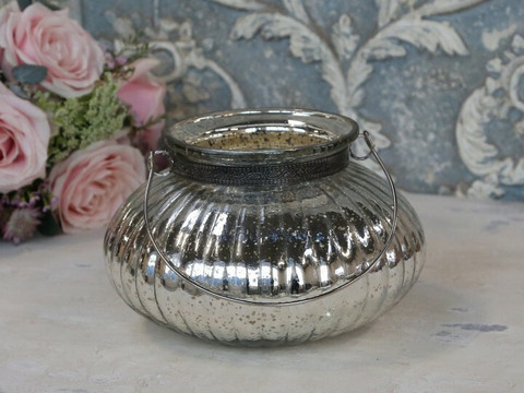 Silver candle lantern