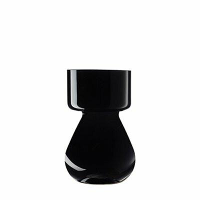 Hyacinth vase black
