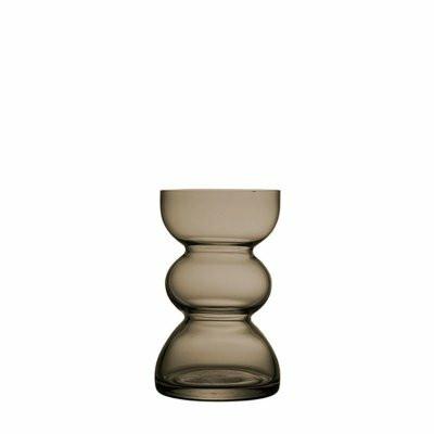 Hyacinth vase smoke gray