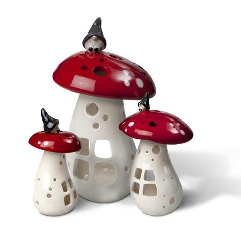 Mushroom candlestick red