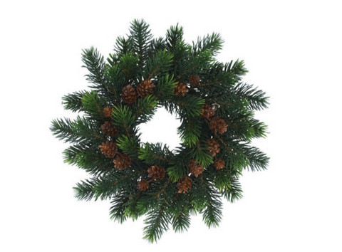 Softwood wreath with curves 30cm