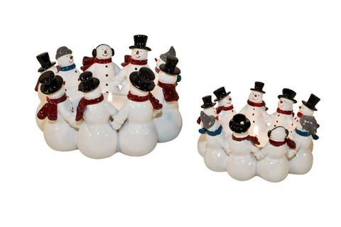 Snowman candleholder  M