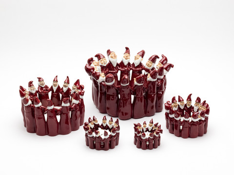 Candleholder pixie red S
