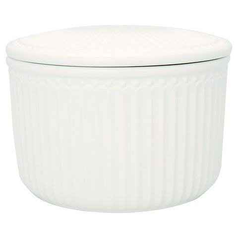 Storage jar set Alice white