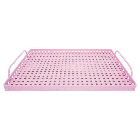 Metaltray pink small
