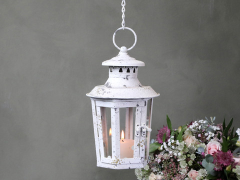 Antique white lantern