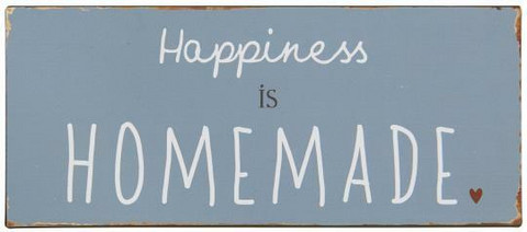 Metallikyltti Happiness
