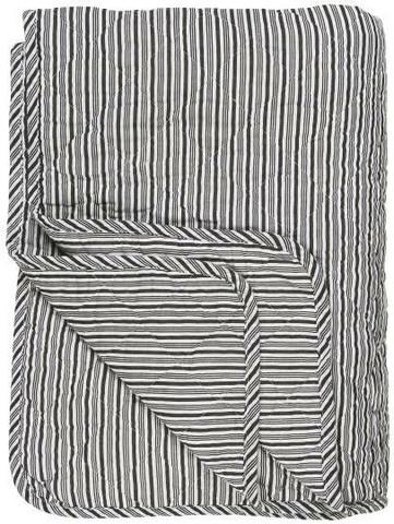 Blanket black/white stripe