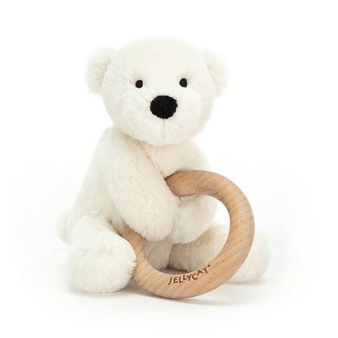 Chew ring plush icebear