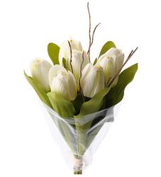 Tulipbouquet white