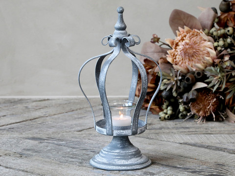 Tealightholder crowns zink