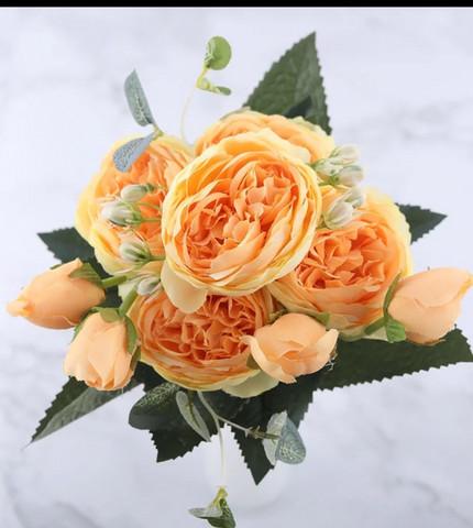 Peony bouquet yellow