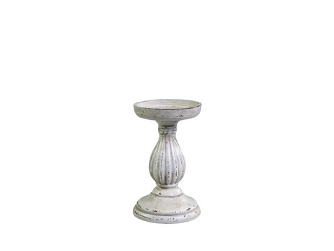 candlestick wood antique white