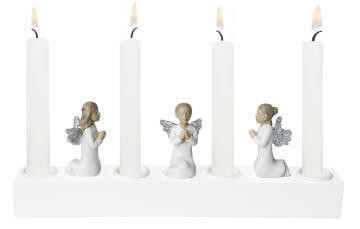 Advent candleholder angel